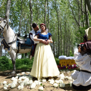 Most talked about couple of the Kingdom. After Prince Charming kisses her, they immediately ask the dwarfs to take a picture to frame this magic moment and quickly update their status on social media. Prince Charming marries Snow White and takes her to his palace to live happily ever after, with millions of new followers.