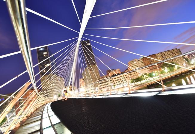 Calatrava's Bridge in Bilbao