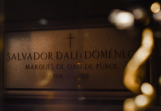 Salvador Dalì's grave inside the Dalí Theatre and Museum in Figueres - Spain