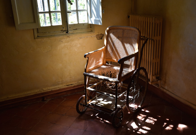 Detail from the Psychiatric Hospital of St. Remy where Van Gogh stayed