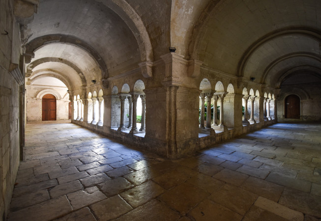 Hallway of the asylum in St. Remy de Provence - France
